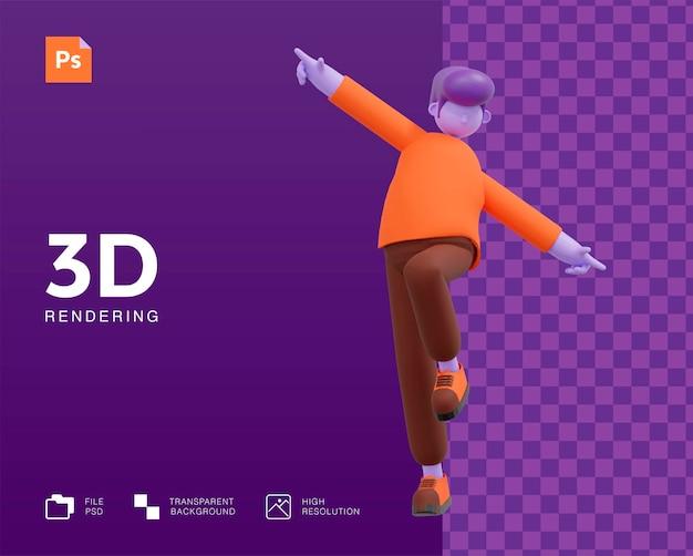 Man character dancing design Premium Psd