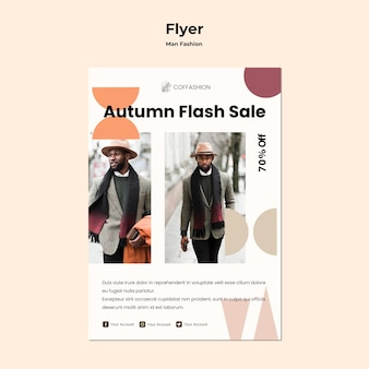 Man fashion concept flyer template