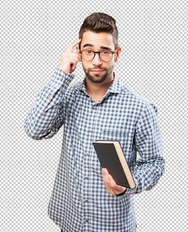 Man holding a book