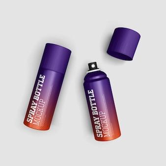 Man perfume spray bottle mockup