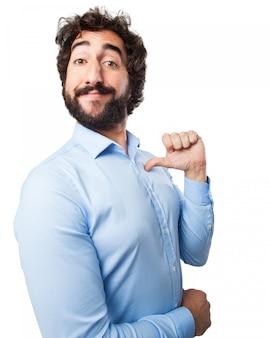 Man pointing himseflf