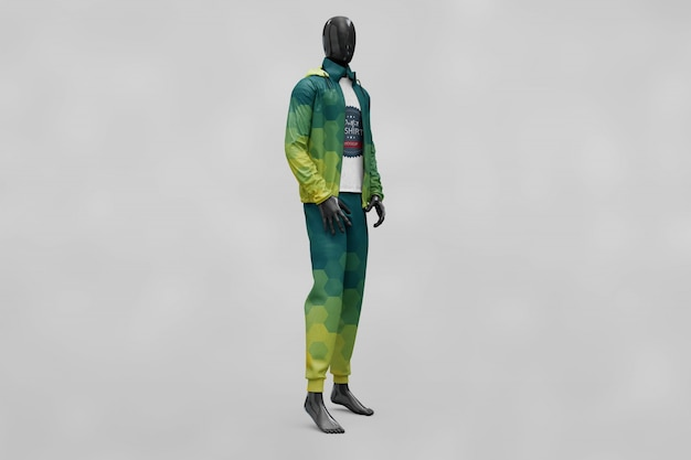 Мужская спортивная одежда макет