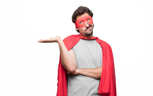 Man in superhero dress doesn't know