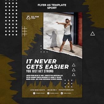 Man training flyer template