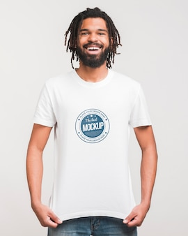 Man wearing t-shirt mockup