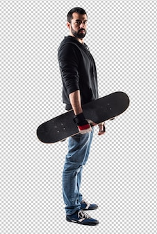 Man with his skate