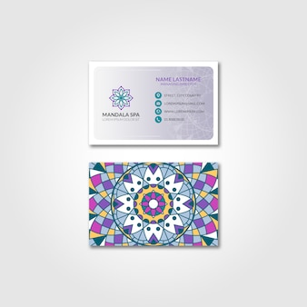 Mandala business card mockup