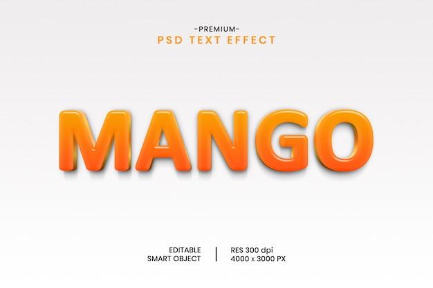 マンゴー3dテキスト効果テンプレート