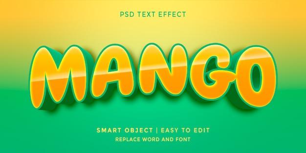 マンゴー編集可能な3dスタイルのテキスト効果