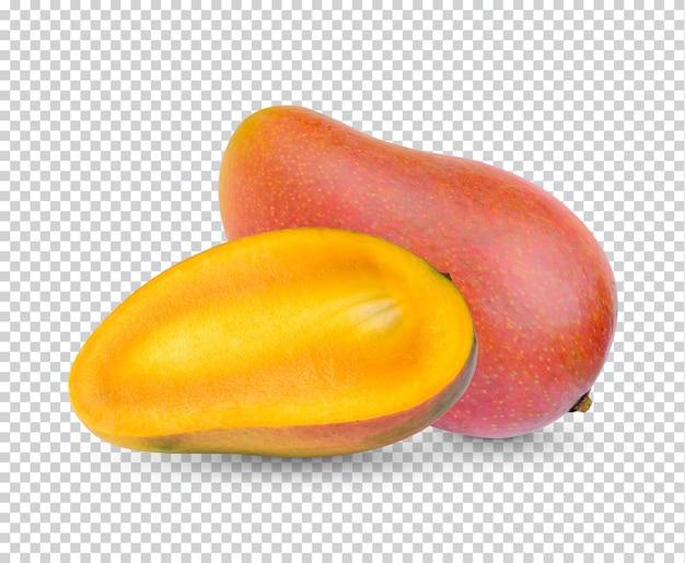 망고 과일 및 절연 슬라이스 프리미엄 PSD 파일