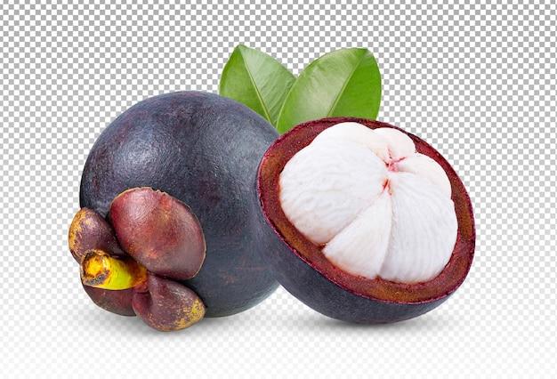 Mangosteen isolated Premium Psd