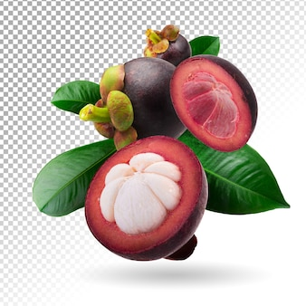 Mangosteens queen of fruits isolated Premium Psd