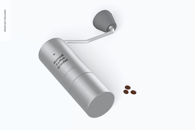 Mockup di macinacaffè manuale