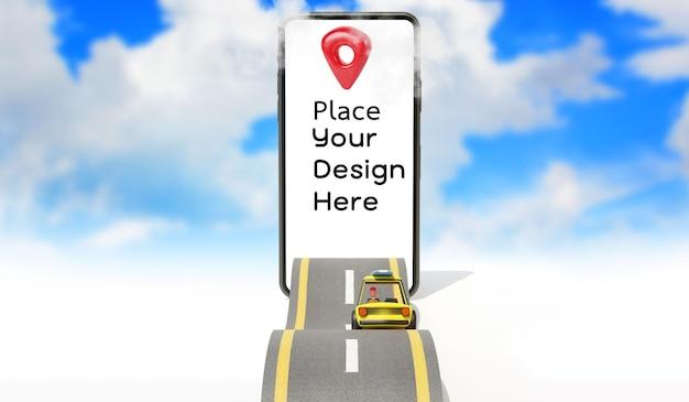 Изолированный дизайн визуализации местоположения карты