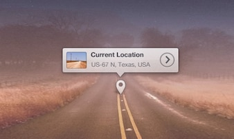 Map location tool tip PSD