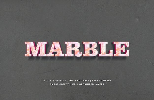Мраморный 3d текст в стиле эффект премиум