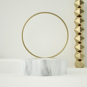 Marble podium and golden ornaments
