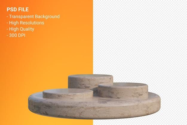 고립 된 3d 렌더링에서 대리석 연단 최소한의 디자인