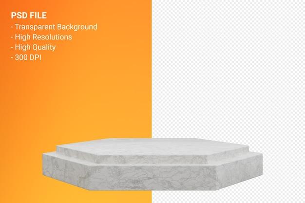 分離された3dレンダリングの大理石の表彰台の最小限のデザイン