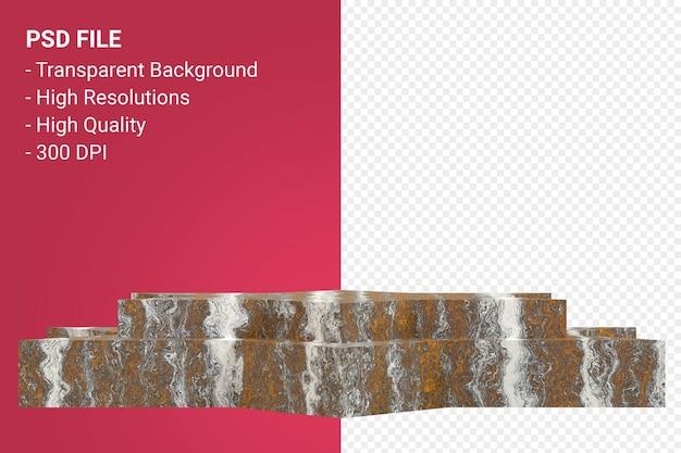 Мраморный подиум минимальный на прозрачном фоне для презентации косметической продукции