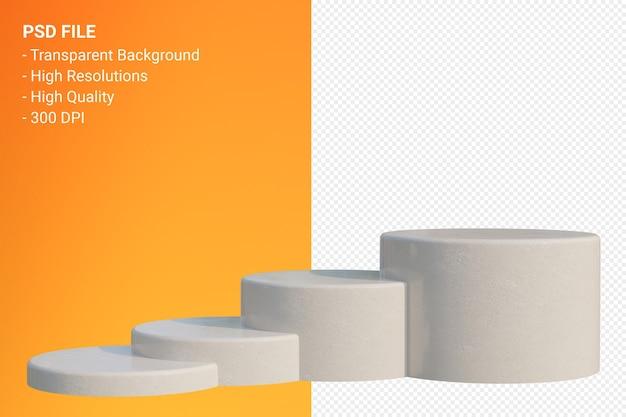 화장품 프레젠테이션을 위해 투명에 최소한의 marble podium