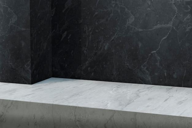 Mockup sullo sfondo del prodotto in marmo psd