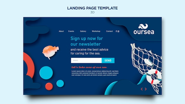 Marine environment workshop landing page