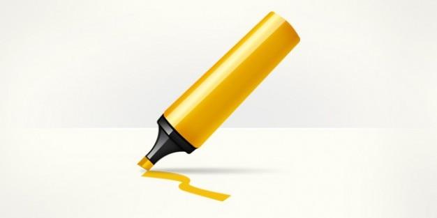 Marker pen highlighter icon