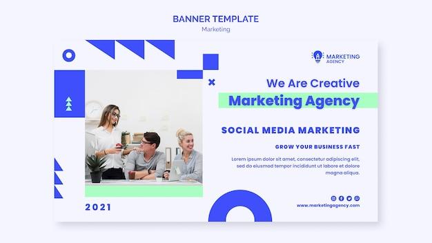 Шаблон баннера маркетингового агентства