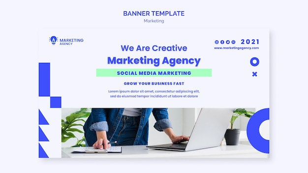 Marketing agency banner template
