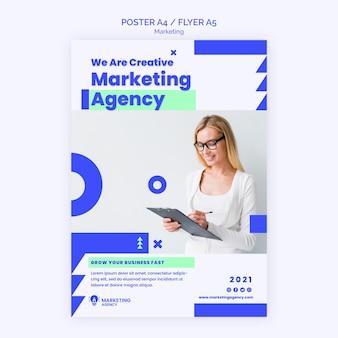 Шаблон плаката маркетингового агентства