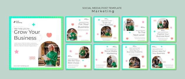 마케팅 대행사 소셜 미디어 게시물 템플릿