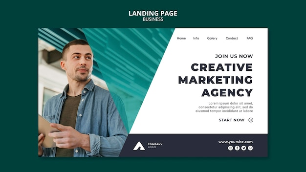 Marketing agency web template