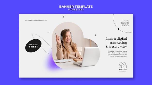Дизайн шаблона маркетингового баннера