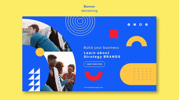 Marketing banner template