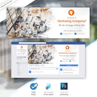 Marketing business facebook cover