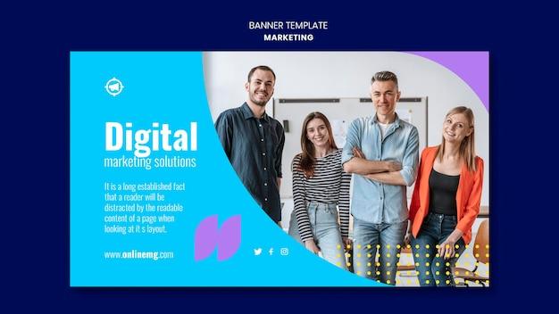 Marketing horizontal banner template