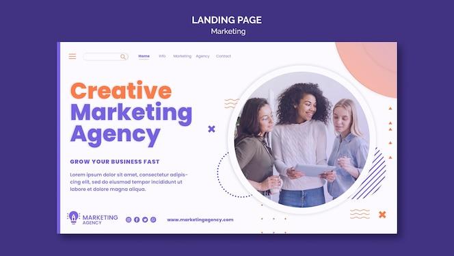 Marketing landing page template