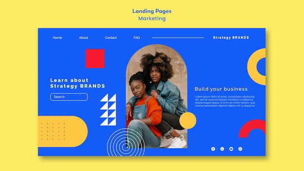 Marketing landing page