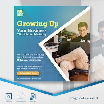 Marketing offer social media post template