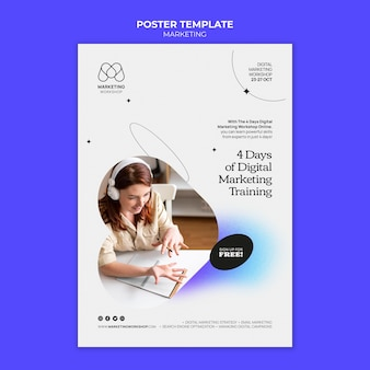 Дизайн шаблона маркетингового плаката