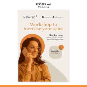 사진과 함께 마케팅 포스터 템플릿