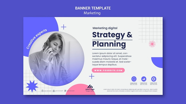 마케팅 전략 배너 서식 파일