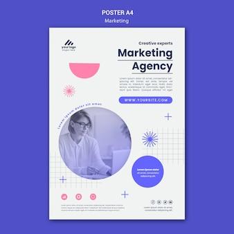 Modello di poster di strategia di marketing marketing