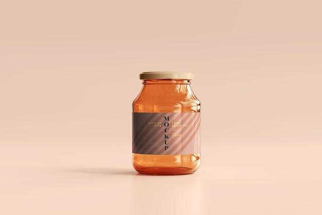 マーマレードガラス瓶モックアップ