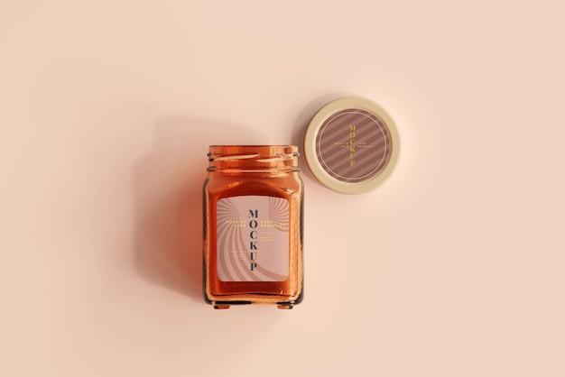 Marmalade glass jar mockup