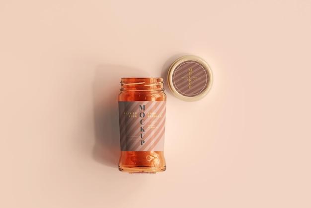Marmalade glass jar mockup Premium Psd