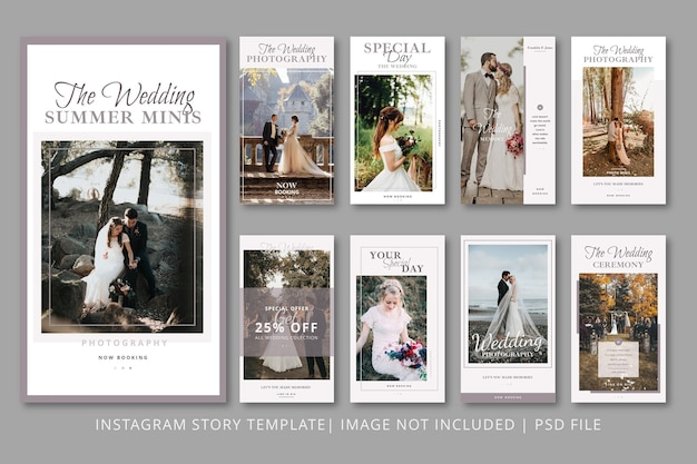Married instagram stories graphic template