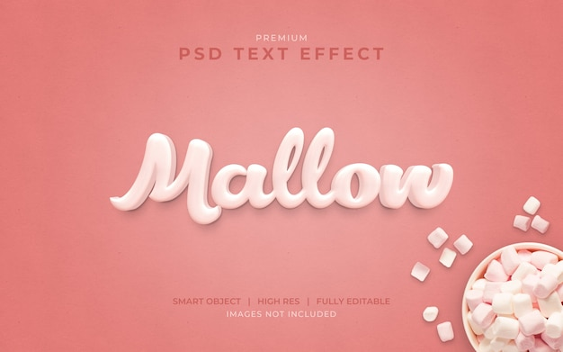 Marshmallow psd text effect mockup