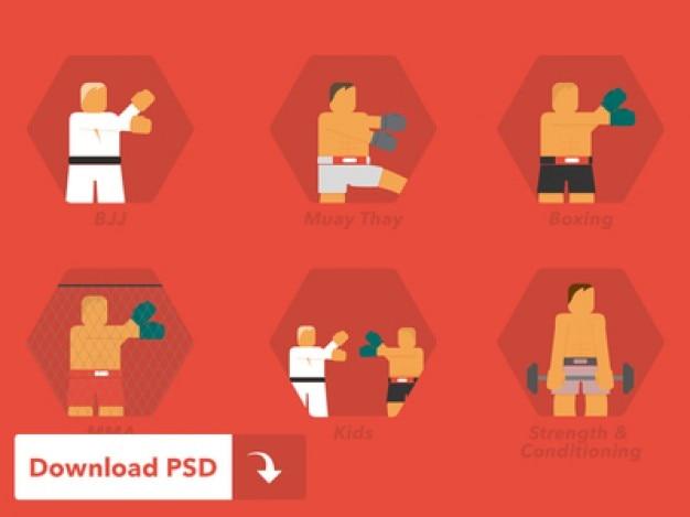Icone di arti marziali